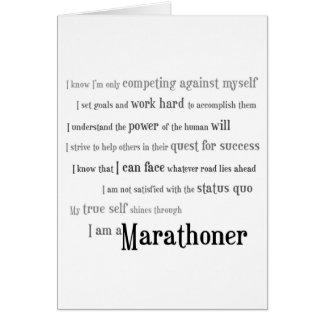 Cartão Eu sou uma boa sorte do Marathoner