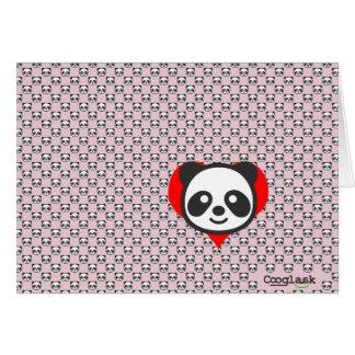 Cartão Eu sou uma panda!  Rosa