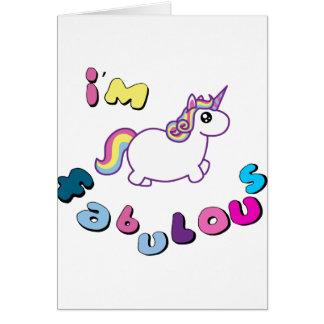 Cartão eu sou unicórnio fabuloso