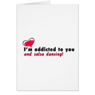 Cartão Eu sou viciado à dança você e da salsa