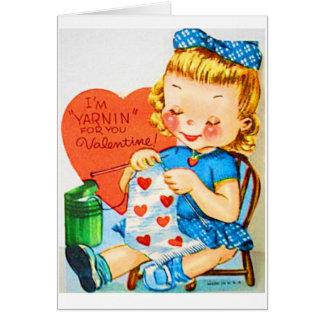 Cartão Eu sou Yarnin para você namorados