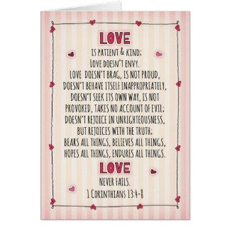 Cartão Eu te amo 1Corinthians 13:4 - 8