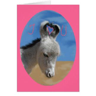 Cartão Eu te amo asno