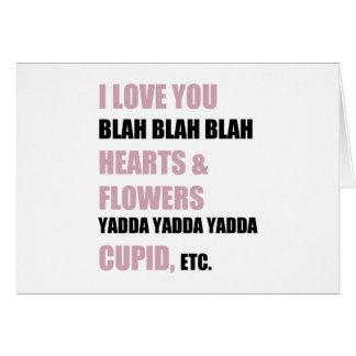 Cartão Eu te amo blá - blá