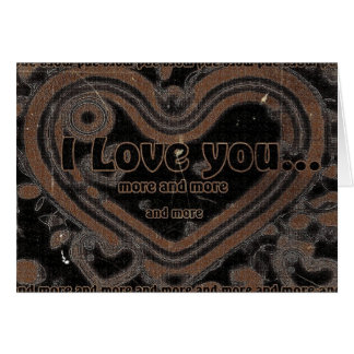 Cartão Eu te amo cada vez mais
