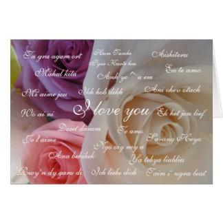 """Cartão """"Eu te amo"""" em 23 línguas"""