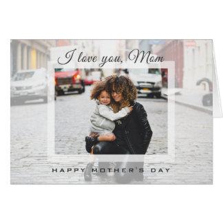Cartão Eu te amo foto moderna do dia das mães da mamã