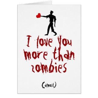 Cartão Eu te amo mais do que zombis