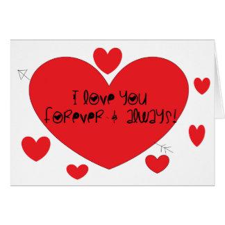Cartão Eu te amo para sempre e sempre