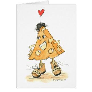 Cartão Eu te amo Sr. queijo