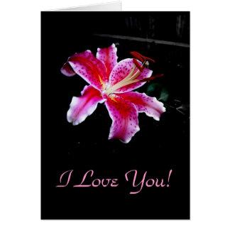 Cartão Eu te amo! , Vazio