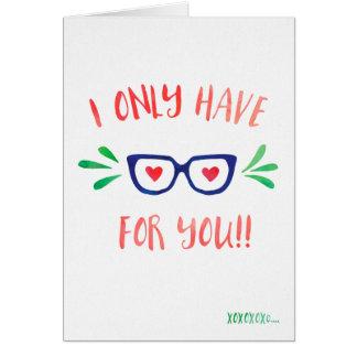 Cartão Eu tenho somente os olhos para você