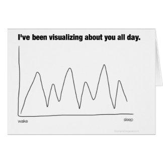 Cartão Eu tenho visualizado sobre você o dia inteiro
