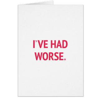 Cartão Eu tive uns namorados engraçados mais maus