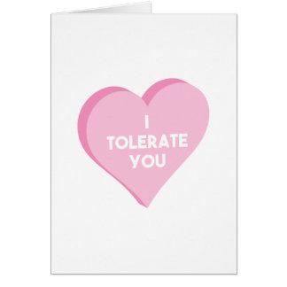 Cartão Eu tolero-o
