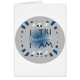 Cartão Eu tri conseqüentemente mim sou Triathlon