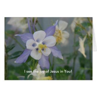 Cartão Eu ver a alegria de Jesus em você!