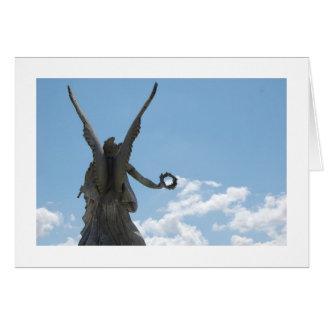 Cartão Eu ver uma captura do anjo uma nuvem