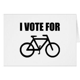Cartão Eu voto para a bicicleta