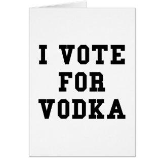 Cartão Eu voto para a vodca