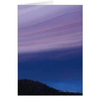 Cartão EUA, Califórnia, Lake Tahoe, paisagem com