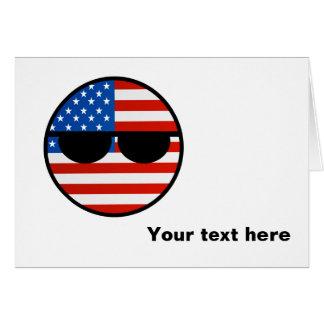 Cartão EUA Geeky de tensão engraçados Countryball
