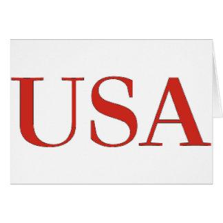 Cartão EUA - Nacional patriótico dos Estados Unidos da