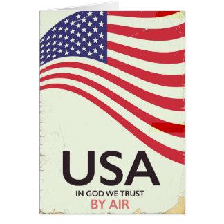 """Cartão EUA """"no deus nós confiamos"""" o poster vintage"""