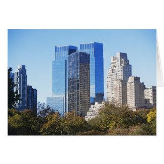 Cartão EUA, Nova Iorque, Central Park com skyline