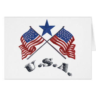 Cartão EUA patrióticos