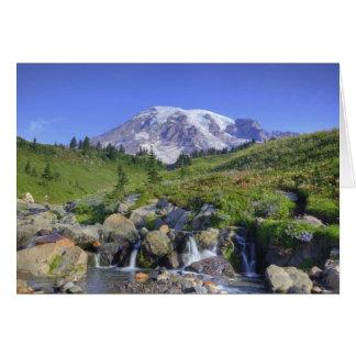 Cartão EUA, Washington, Monte Rainier NP, Monte Rainier e