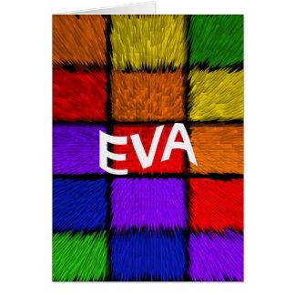 CARTÃO EVA