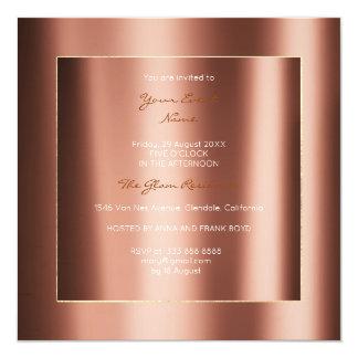 Cartão Evento metálico mínimo do bronze do cobre do ouro