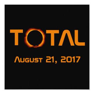Cartão Evento total do eclipse solar