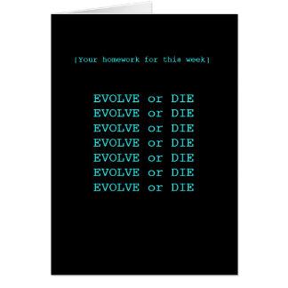 Cartão Evolua ou morra