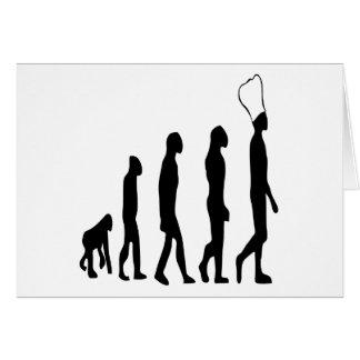 Cartão Evolução do cozinheiro chefe