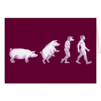 Cartão Evolução dos homens