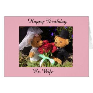 cartão ex da esposa do feliz aniversario