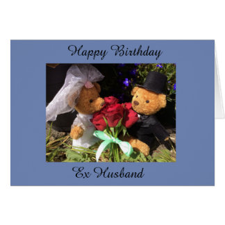 Cartão ex do marido do feliz aniversario