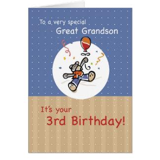 Cartão Excelente - aniversário do balão do urso de