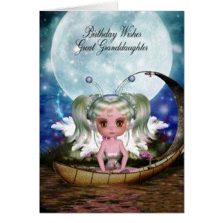 Cartão Excelente - aniversário mágico da fada da água da