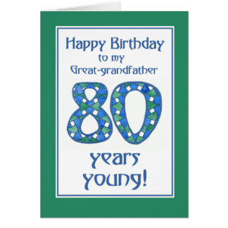 Cartão Excelente-avô azul, verde, branco do aniversário