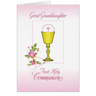 Cartão Excelente - comunhão santamente do rosa da neta