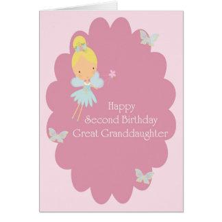 Cartão Excelente do segundo aniversário - fada