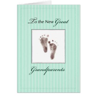 Cartão Excelente novo - avós do bebê, verde neutro