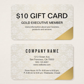Cartão executivo do membro/presente do ouro
