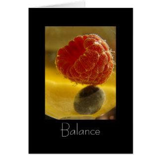 Cartão Exercicio de equilibrio (com poema)