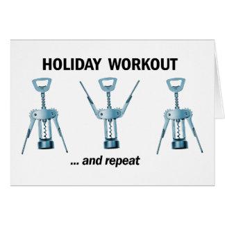 Cartão Exercício do feriado
