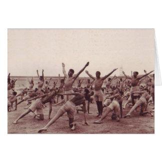Cartão Exercício dos soldados do vintage