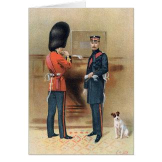 Cartão Exército britânico - guardas escocesas